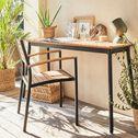 Table de balcon en aluminium et eucalyptus (2 places)-TANOS