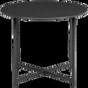 Table basse de jardin en acier noir-RETRA
