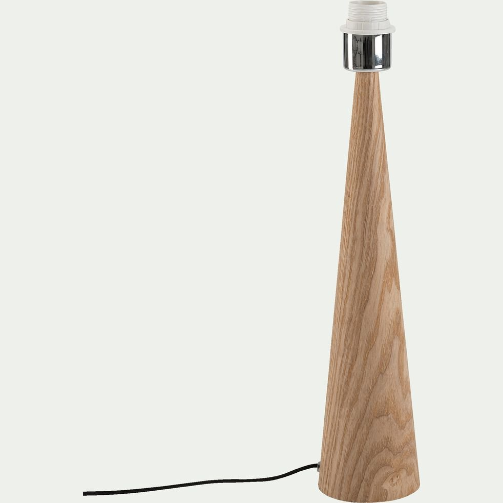 Lampe à poser en bois clair- chêne H51,5cm-KONE