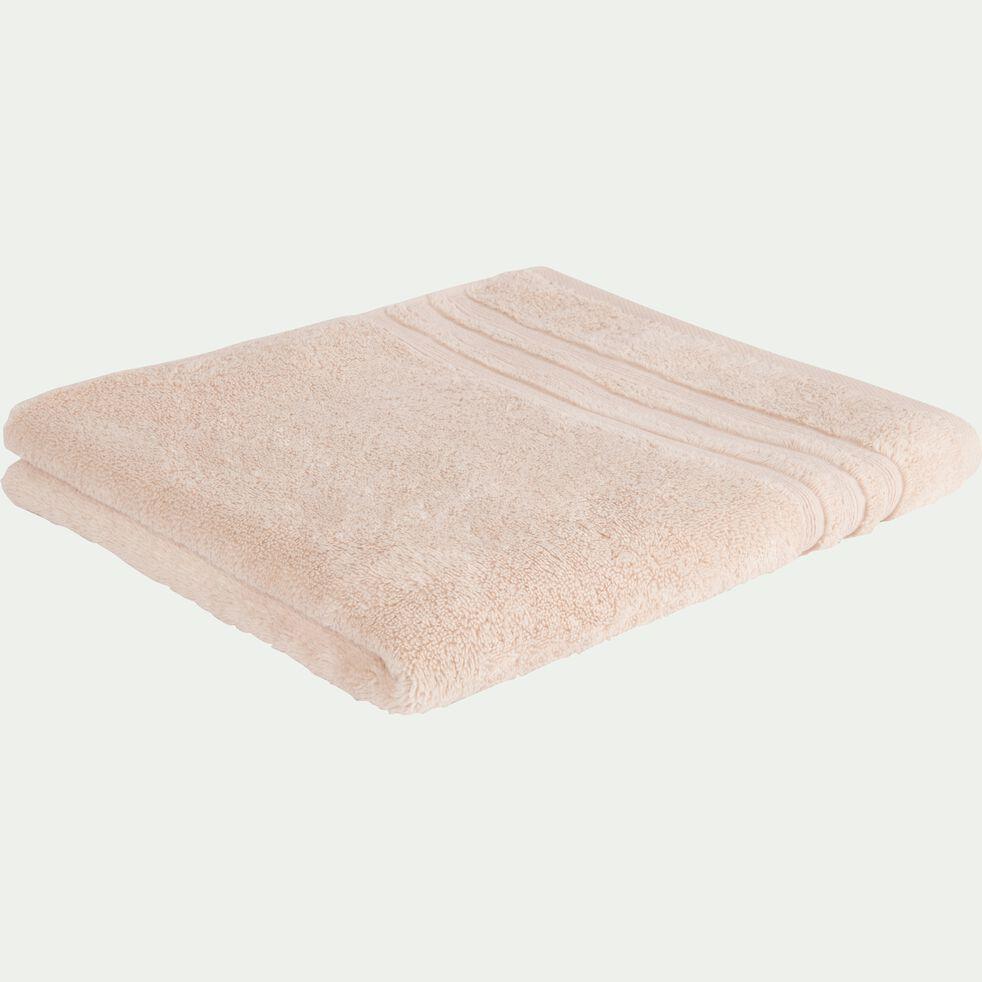 Drap de douche bouclette en coton - rose grège 70x140cm-NOUN