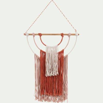 Décoration style macramé rose beige & orange l65 cm-SOGNI