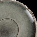 Tasse et soucoupe en grès vert 40cl-ADAM