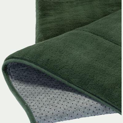 Tapis imitation fourrure vert cèdre 100x150cm-ROBIN