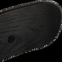 Tabouret de bar en simili noir- H66cm-PELISSANNE