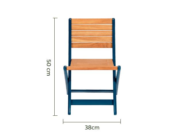 Chaise pour enfant 50x33x38cm bleu figuerolles-MAXIME