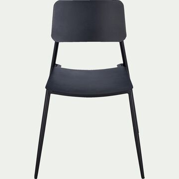 Chaise de jardin bistrot - gris anthracite-Nicolas