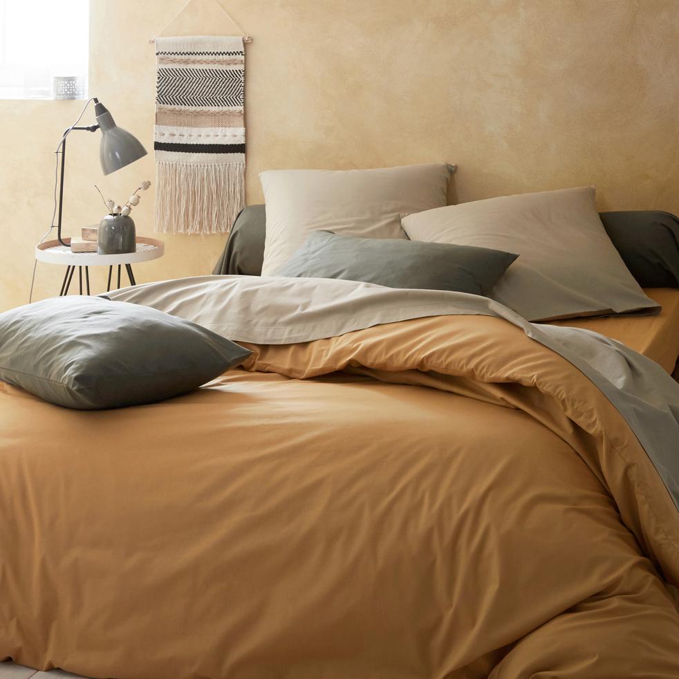 Ensemble linge de lit en coton teintes chaudes linge de lit coton ensemble linge de lit alinea for Site de linge de lit