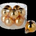 Assortiment de 10 boules coloris or mates et brillantes D6cm-LOT BOULE