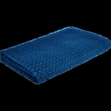 Drap de bain en coton 100x150cm bleu figuerolles-ETEL