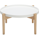 Table basse ronde blanche-VOILA