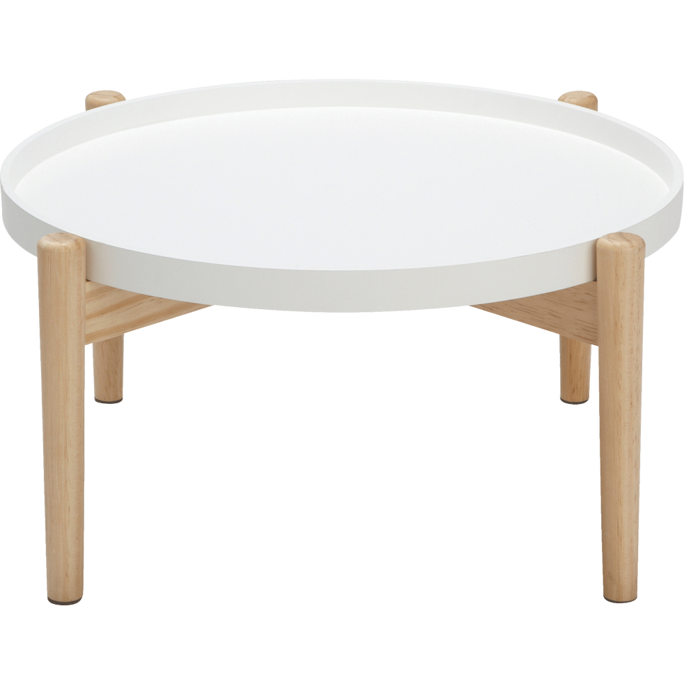 table basse ronde blanche voila tables basses alinea. Black Bedroom Furniture Sets. Home Design Ideas