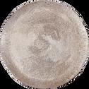 Plateau rond argenté en aluminium D27,5 cm-MAJOR