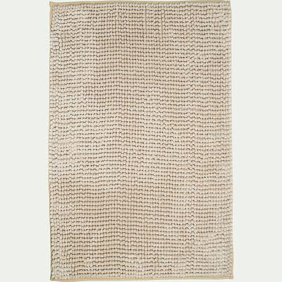 Tapis de bain rectangulaire antidérapant - l50xL80cm beige roucas-Picus