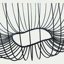 Suspension en métal filaire noir D35cm-CLAUDINE