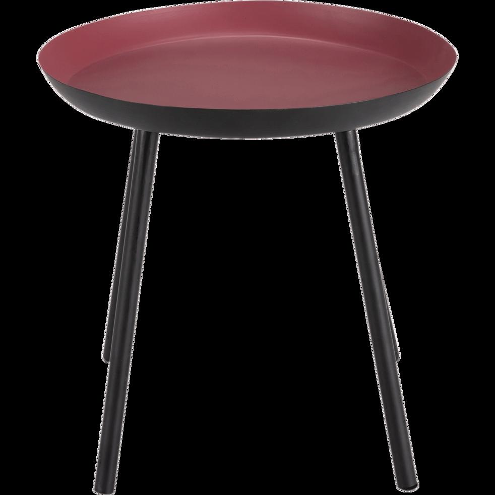 bout de canap en acier rouge soufio bouts de canap. Black Bedroom Furniture Sets. Home Design Ideas
