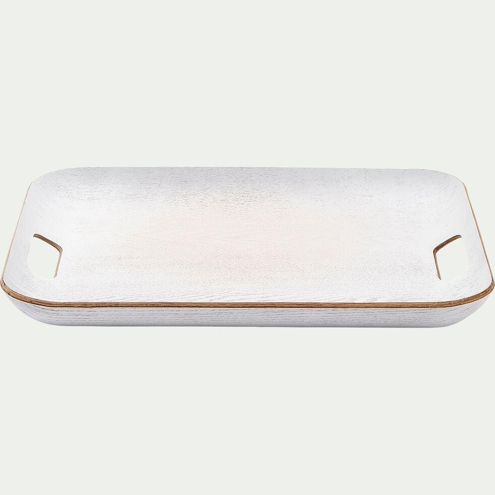 Plateau rectangle en bois L45xl36cm - blanc-SAULE