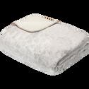 Plaid réversible imitation fourrure beige 180x230cm-SOFY