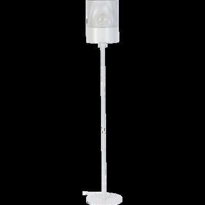 Lampadaire en métal blanc H148cm-CLOTILDE