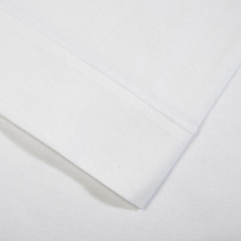 Drap plat en coton - blanc 180x300cm-CALANQUES