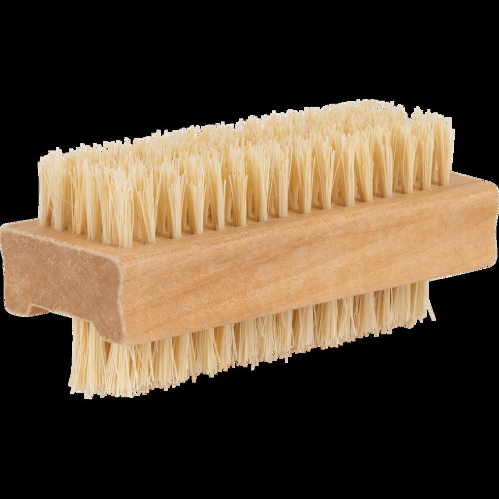 Brosse à ongle 2 faces en bois-Nail
