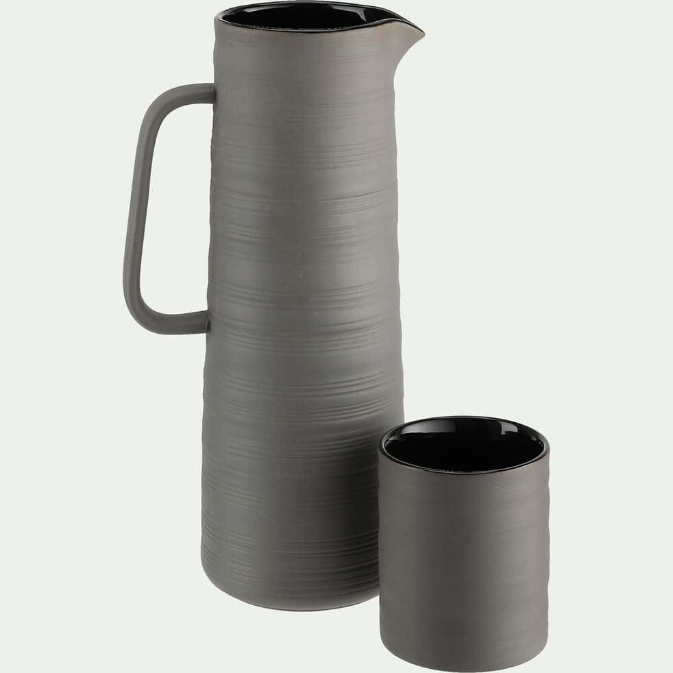 Mug en porcelaine 32cl - noir-SIDON