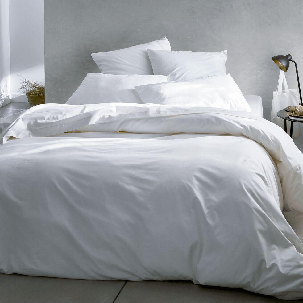 Housse de couette en coton - blanc capelan 260x240cm-CALANQUES