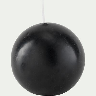 Bougie ronde gris calabrun D10cm-HALBA