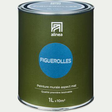 Peinture acrylique mate multi-supports - bleu figuerolles 1L-PEINTURE