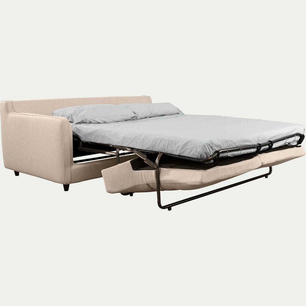 Canapé 3 places convertible en tissu - beige roucas-LENITA