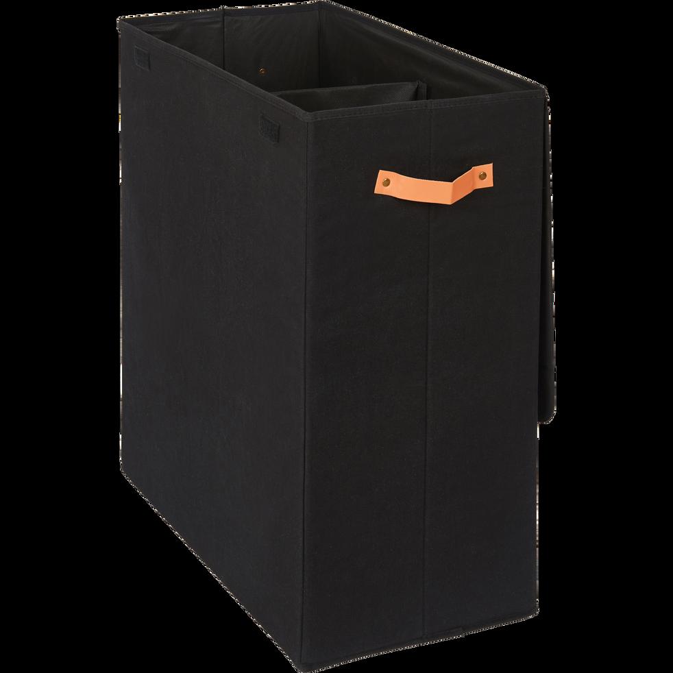 panier linge double noir h50cm erro paniers linge. Black Bedroom Furniture Sets. Home Design Ideas