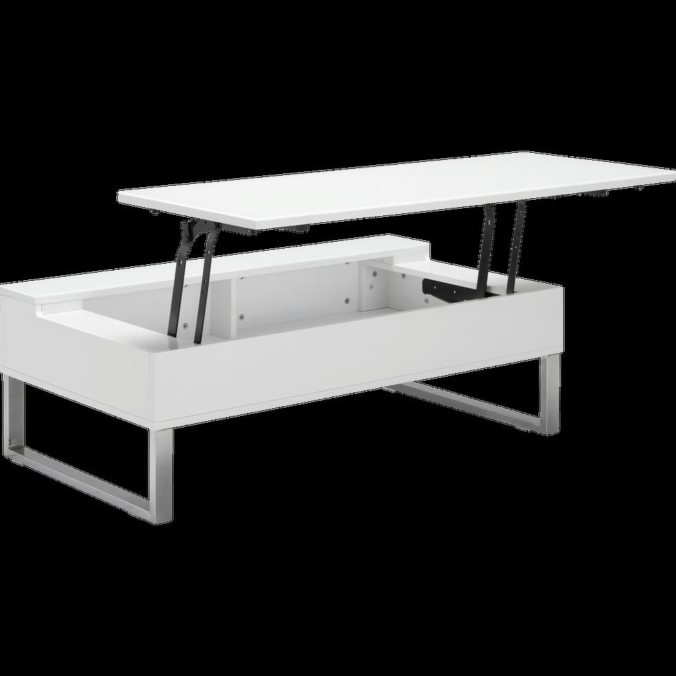 Table basse blanche avec tablette relevable-Novy