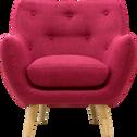 Fauteuil en tissu framboise-Poppy