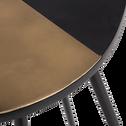 Bout de canapé en acier noir et doré-JARD