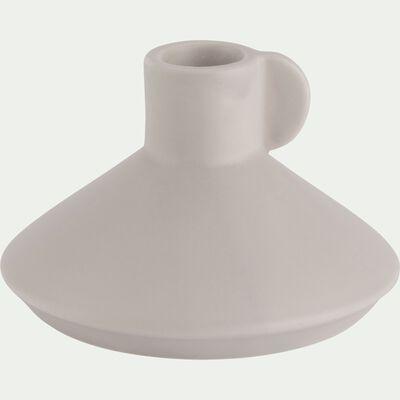 Bougeoir en céramique gris-GRETA