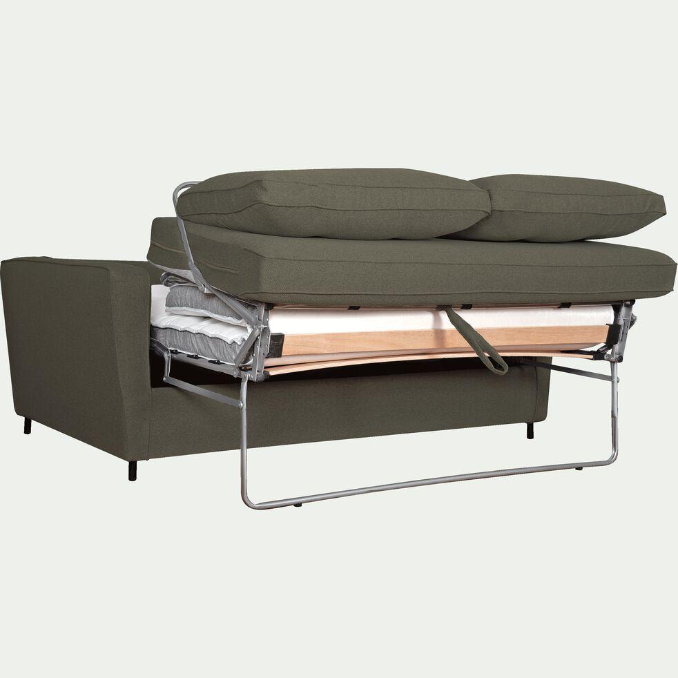 Canapé convertible 3 places en tissu - gris vesuve-BARTHOLE