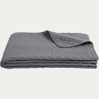 Couvre-lit effet lavé gris restanque 230x250cm-THYM