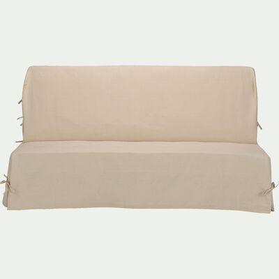 Housse pour clic-clac en polycoton - beige roucas L140cm-PAULINE