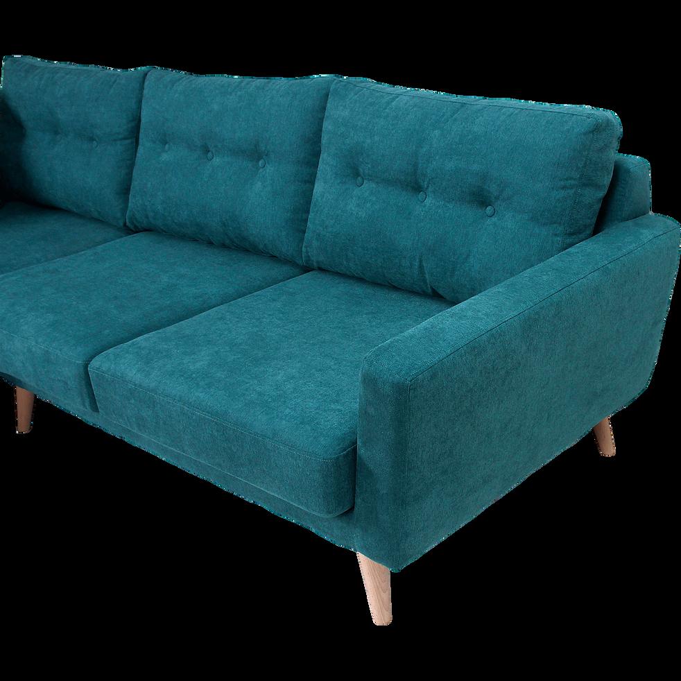 Canapé d'angle fixe gauche en tissu vert - ICONE - canapés ...