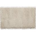 Descente de lit à poils longs blanc écru 60x110cm-Kris