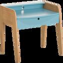 Bureau en acacia pour enfant bleu-RAPHAEL