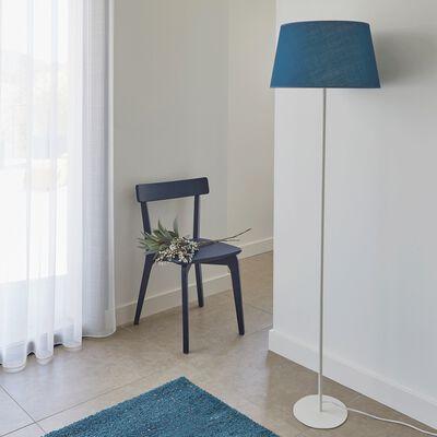 Lampadaire en métal et tissu - bleu figuerolles-OLIVIO