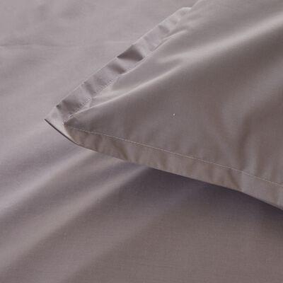 Lot de 2 taies d'oreiller en percale de coton - gris restanque 65x65cm-FLORE