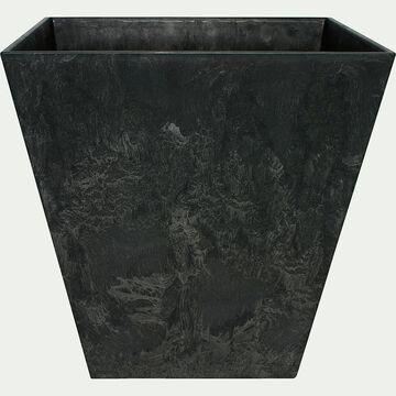 Pot à réserve d'eau - noir H24cm-Ella
