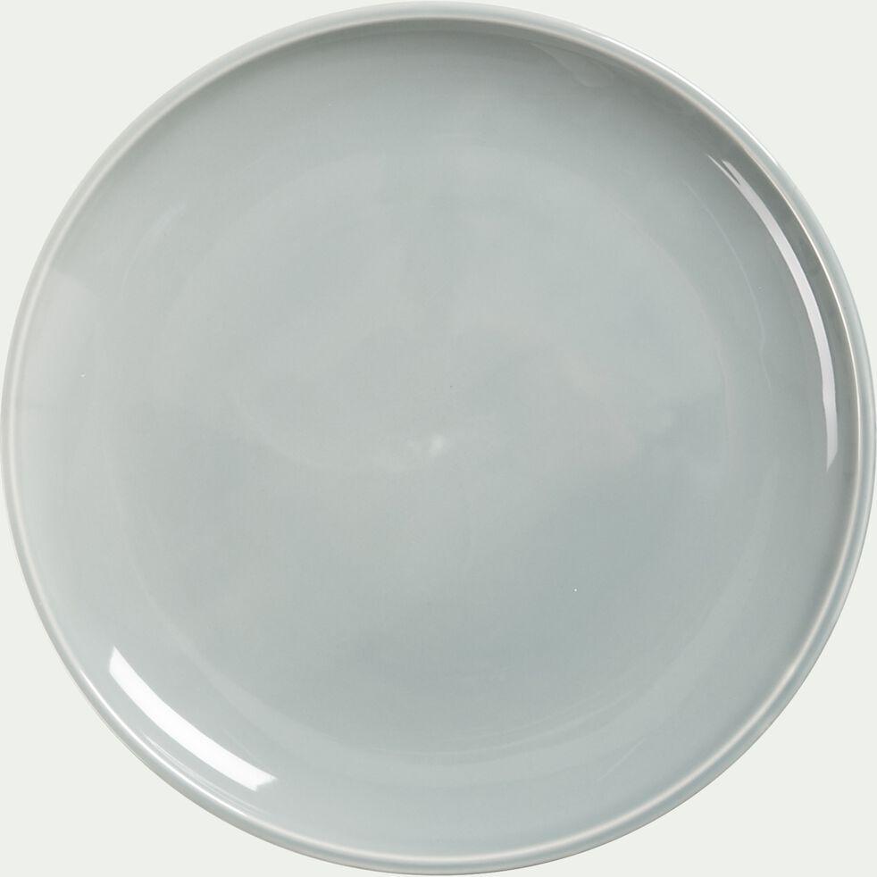 Assiette plate en faïence - gris borie D27cm-JANGAL