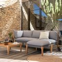 Salon intérieur/extérieur en eucalyptus gris (4 places)-BELLONE