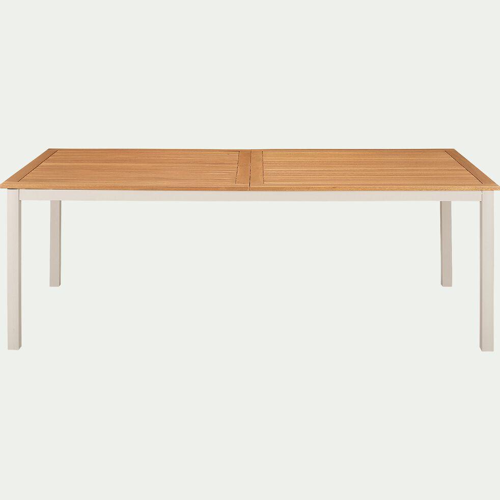 Table de jardin extensible en eucalyptus et aluminium (6 à 6