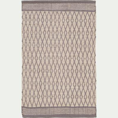 Tapis de cuisine en coton - gris 50x80cm-SHIVA