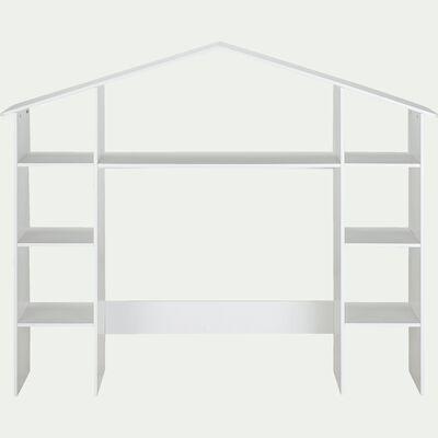 Tête de lit avec rangements chambre enfant - blanc-POLLUX