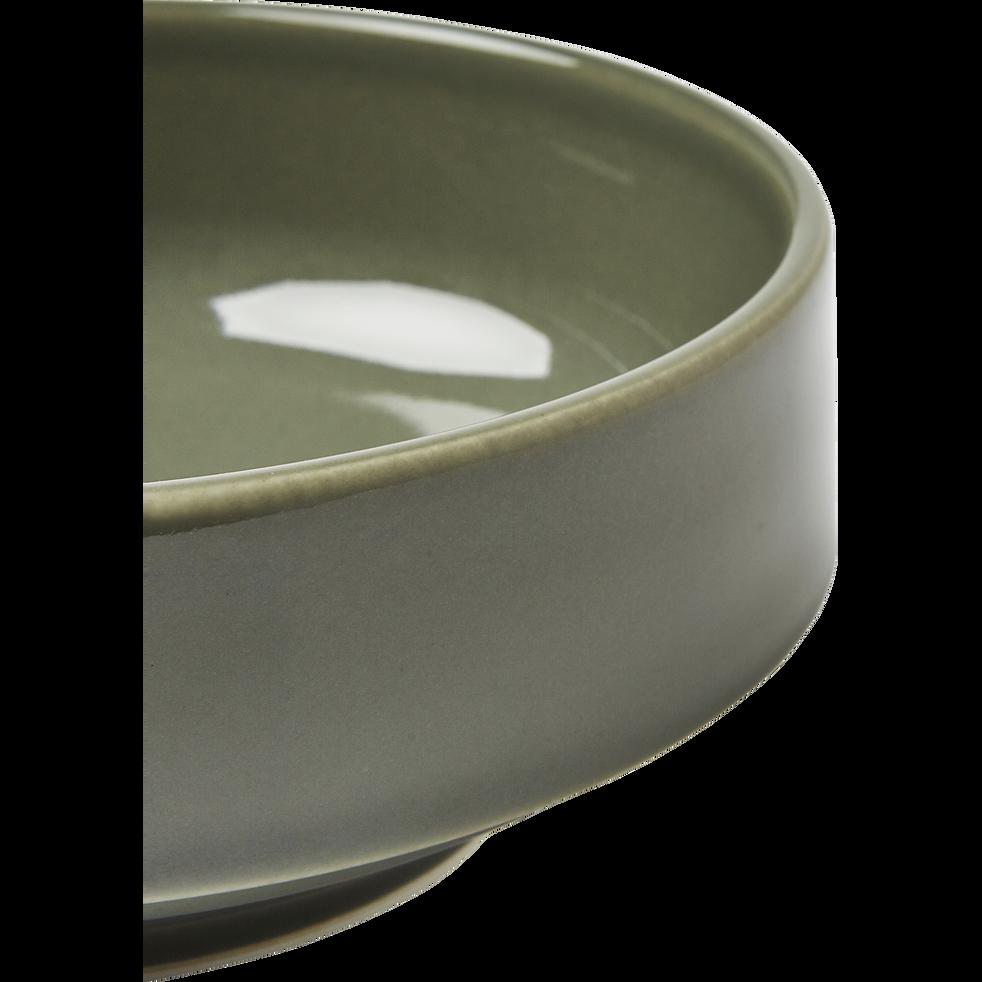 Coupelle en faïence vert cèdre D15,5cm-VADIM