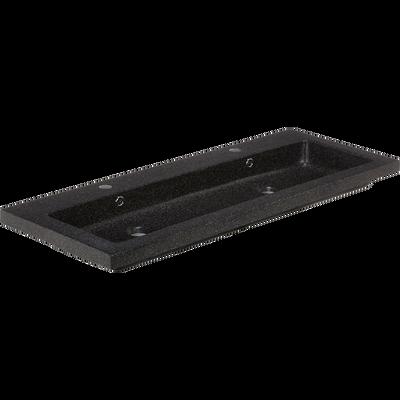 Plan vasque 120cm en terrazzo noir-SOURCE